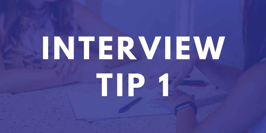 Teaching Interview Tip 1